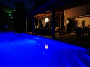CasaTortuga Pool at Night